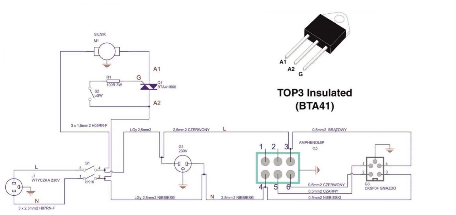 электро-схема UHRB-160-400